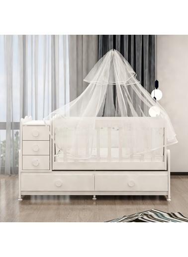 Garaj Home Garaj Home Melina Lüks Uyku Setli Beşik Kombini/ Uyku Seti Pembe Pembe